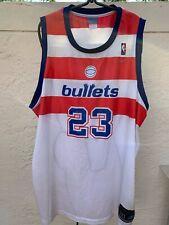 MICHAEL JORDAN WASHINGTON BULLETS #23 WHITE REEBOK NBA JERSEY SZ 3XL
