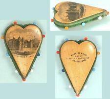 Antique Mauchline Ware Pin Cushion * Scottish * Circa 1880s