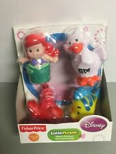 Fisher-Price Little People-Disney Princess Ariel and Friends -4 Figure Set - NEW