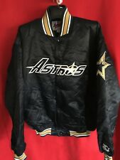 bb31cdf8acd Houston Astros Throwback Satin Starter Jacket Navy size X Large looks new