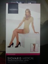 Sigvaris EverSheer, Thigh High Compression Stocking w/ OPEN TOE, 20-30mmHg