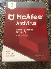 MCAFEE RETAIL BOX MAB00ENR1RAA ANTIVIRUS 1PC 2018 - Sealed
