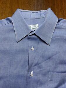 size 16 41 Borrelli Neiman Marcus button down blue cotton dress shirt