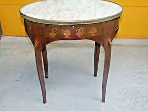"""Tavolino da salotto intarsiato fine """"800 francese"""