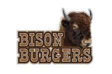 Bison Burger 9''x13'' Decal for Concession Trailer or Buffalo Meat Business Sign