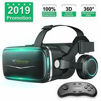 Pansonite VR Headset with Remote Controller , 3D Glasses for VR Games & 3D Movie