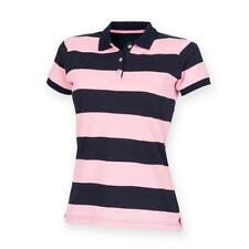 Cotton Short Sleeve Striped Tops & Shirts for Women