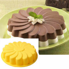 Silicone Large Bakeware Cake Pan Bread Chocolate Pizza Baking Tray Mold mould LK