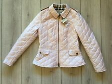 New original Burberry women Pastel Pink Diamond quilted jacket Size S ( It- 36 )