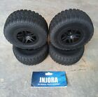 "4pc Tires Wheel Rims Hubs for 1:10 RC - 2 3/8"" dia rim, 4 1/8"" dia tire, 2"" wide"