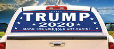 Trump 2020 Make Liberals Cry Laminated Perforated Window Tint Wrap WG202001