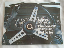 Austin 1300GT brochure Aug 1968 ref 2680