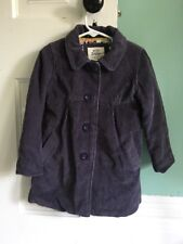 Mini Boden Girls Purple Corduroy Fall Winter Coat Jacket 2-3Y VGUC