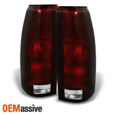 Fit 88-98 C/K C10 GMC Sierra Suburban Pickup Truck Dark Red Tail Light Lamps
