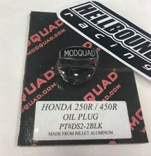 New Honda TRX250r billet BLACK oil plug Mod Quad 1986-1989 250r
