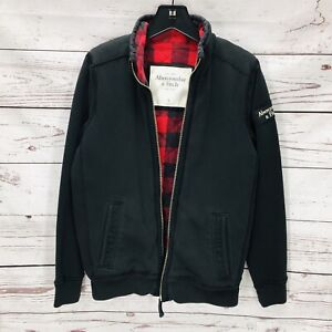 Abercrombie & Fitch Men's S/Small Quilted Flannel Lined Muscle Jacket Black