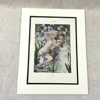 1898 Art Nouveau Print Nude Girls Painting Iris Gaston Bussiere Antique Erotica