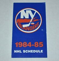 NHL 1984-85 New York Islanders Pocket Schedule National Hockey League