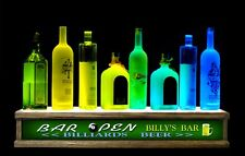 "24"" LED PERSONALIZED ""your name"" billiards pool shot glass & liquor display"