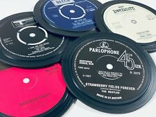 1960s Record label coasters. The Who, Beatles, Parlophone Decca Apple Immediate.