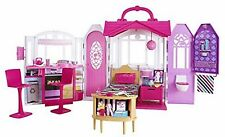 Barbie Dream House Mansion With Furniture Pink Glam Getaway Vacation Play Set