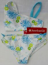 Bikini American Girl 2 piece Julie's Surf Swim Suit XS wht and turquoise floral