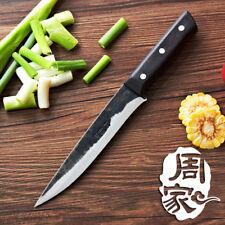 Boning Knife Eviscerate Black Wood Handle Fillet Meat Fish Japanese Forged Bone