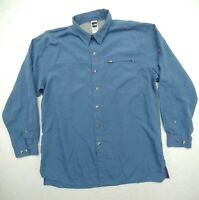 The North Face Mens Sz XL Blue Collared Long Sleeve Button Up Shirt Modal Blend