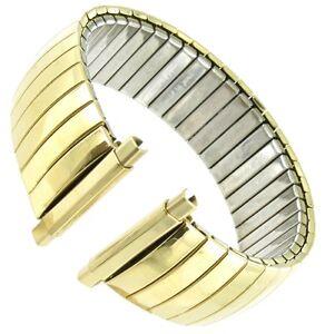 16-22 mm Speidel Gold Tone Twist-O-Flex Stainless Steel Watch Band 1237/37