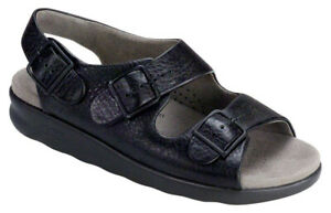 SAS Relaxed Sandal Black, Women's Shoes, Many Sizes & Widths