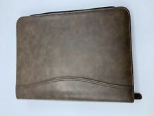 Day-Timer Planner Brown Leather, Open For Use In Any Year