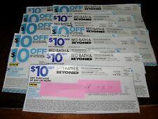 (11) $10 off $30 BED BATH AND BEYOND COUPONS