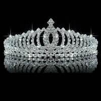 Princess Bridal Wedding Prom Headband Glitter Crystal Rhinestone Tiara Crown UK