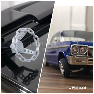 Redcat Rc SixtyFour Impala 3D Printed 1/10 Chain link Steering Wheel Sixty Four