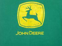 John Deere T Shirt Green Size L Long Sleeve 100% Cotton