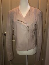 Veda Blush Dali Vegan Leather Jacket Sz L MSRP $898