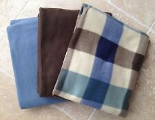 Unbranded Machine Washable Checked Bed Blankets