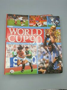 Orbis World Cup 90 The Complete Collection (not complete) Sticker Album Binder