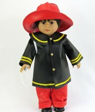 "FIREMAN COSTUME FOR AMERICAN GIRL OR BOY DOLL OR 18"" DOLL CLOTHES ACCESSORIES"