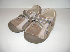 STRIDE RITE RICO BABY TODDLER BOYS SHOES WALKERS size 5 W BROWN LEATHER CUTE