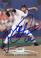 Jason Christiansen Pittsburgh Pirates Signed 1999 Card Giants Angels Cardinals