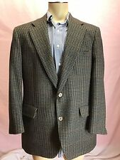 40S BROOKS BROTHERS Men's Vintage Brown Green Houndstooth Blazer Coat Jacket