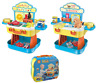 Kids 2 In 1 Role Play Set Pretend Pet Shop & Kitchen Cooking Set Carry Case 079