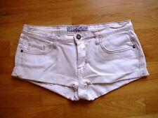 Ladies hotpants denim shorts size 12 winter white colour vgc