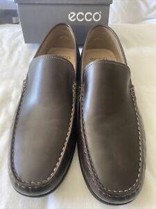 Ecco Mens Classic MOC II Venetian LoaferUS Size 12-12.5/EU Size 46 Brown Leather
