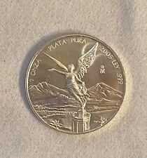 2005 Silver Libertad Mexican Mint 1 Onza .999 Fine Coin