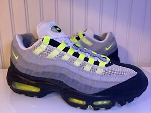 Nike Air Max 95 OG Neon Green Volt Cool Grey Black White Mens Size 10 609048 072