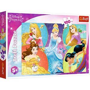 Trefl 100 Piece Kids Large Meet Sweet Princesses Disney Jigsaw Puzzle Play NEW