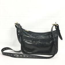 Hobo International Crossbody Bag Black Leather Distressed Purse Adjustable