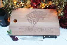 Chopping Board Game of Thrones Style Dinner is Coming